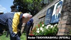 Yuri Vazagashvili was killed by a bomb at his son's grave.