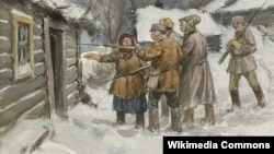 Bolşeviklər 1920-ci ildə qolçomaq ovuna çıxıb, Belarus, Ivan Vladimirov (rəsm)