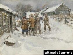 В поисках сбежавшего кулака, работа Ивана Владимирова, 1920