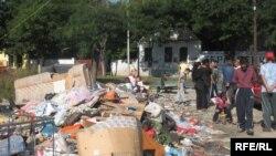 Iseljavanje Roma iz jednog od naselja u Beogradu, septembar 2010.