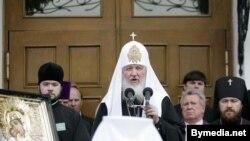 """Патриарх Кирилл уверен, что существует """"некая информационная стратегия, направленная против Церкви""""."""