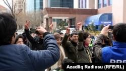 """Од последните протести во Баку во Март, организирани преку """"Фејсбук"""""""