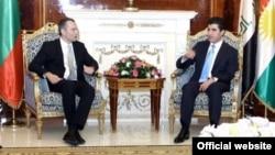 نيجيرفان بارزاني يستقبل يستقل ملادينوف وزير خارجية بلغاريا