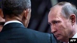 Претседателите на САД и Русија барак Обама и Владимир Путин, Лима, 20.11.2016.