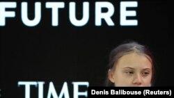 Greta Thunberg la Davos