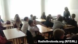 Школа №96 у Данецку, верасень 2014 году