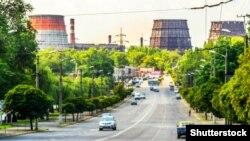 Споруди металургійного комбінату «АрселорМіттал Кривий Ріг» (колишня «Криворіжсталь»)