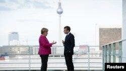 германската канцеларка Ангела Меркел и францускиот претседател Емануел Макрон