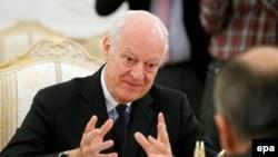 Представитель ООН по урегулированию в Сирии Стаффан де Мистура. Москва, 4 ноября 2015 года.