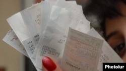 Armenia -- Receipts issued by a cash register.