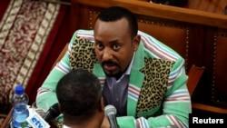 Етиопският премиер Абий Ахмед в парламента в Адис Абеба
