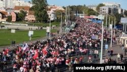 Protestni marš u Minsku, 20. septembar