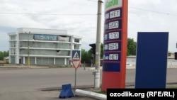 Uzbekistan - prices of the petrol in UzGazOil petrol station in Tashkent, 15May2012