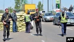 Один из блок-постов на въезде в Киев