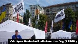 Палаточный городок сторонников Юлии Тимошенко в центре Киева