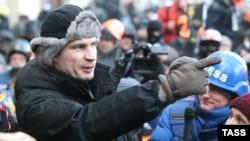 Ukrainanyň oppozisiýa lideri Witaliý Kliçko. 23-nji ýanwar, 2014 ý.