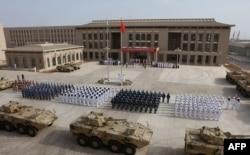 Народная Освободительная армия Китая на открытии новой военной базы КНР поблизости от Джибути