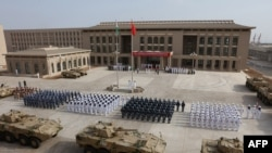 The opening ceremony in August 2017 of China's new military base in Djibouti.
