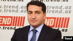 Azerbaijan -- Hikmat Hajiyev, Spokesperson of the Ministry of Foreign Affairs - 2015