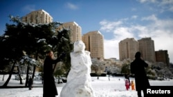 برف بیسابقه در بیتالمقدس