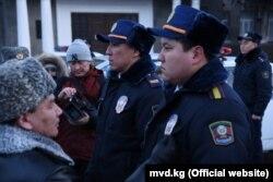 Милиционеры Кыргызстана.