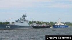 Каспийская флотилия на параде (фото: Wikipedia)