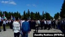 Azerbaijan. İmishli. İlham Aliyev's meeting in Imishli