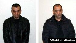 Presidential aspirant Vardan Serdakian says he knows Samvel Harutiunian (left) and Khachatur Pogosian, who have been arrested on suspicion of shooting rival candidate Paruyr Hayrikian.