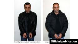 Двоє затриманих, офіційне фото