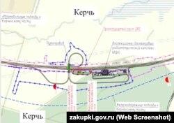 Схема размещения поста ДПС у Керченского моста