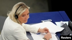 На снимке: лидер Национального фронта Марин Ле Пен