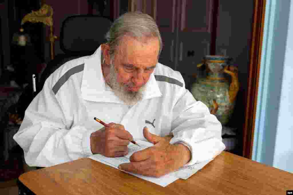 Фидел Кастро, моҳи апрели 2015