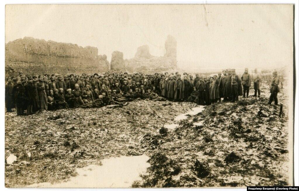 Братаньне ля Крэўскага замка, сьнежань 1917 году