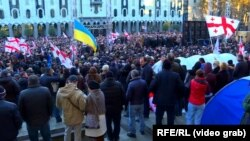Митинг оппозиции на проспекте Руставели в Тбилиси. 2 декабря 2018 г.