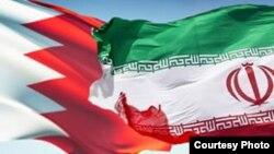 Прапори Бахрейну (л) та Ірану (п)