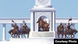 Астана қаласына арналып жасалған монументтердің бірінің жобасы.