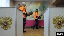 Установка системы видеонаблюдения на избирательном участке в Калужской области