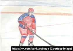 7-річна Катерина Кравцова знає, що Путін любить грати в хокей