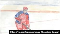 7-летняя Екатерина Кравцова знает, что Путин любит играть в хоккей
