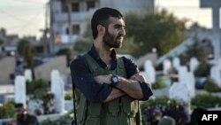 На похоронах бойцов Сирийского демократического союза (SDF), 14 октября 2019 года
