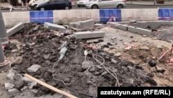 Строительство в центре Еревана (архив)