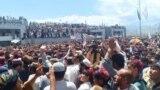 FILE: A Pashtun Tahafuz Movement protest gathering in North Waziristan