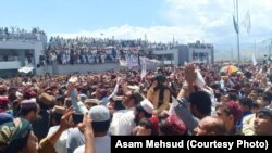 FILE: A Pashtun Tahafuz Movement protest gathering in North Waziristan