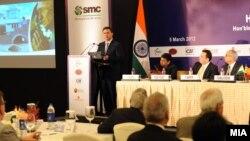 Премиерот Никола Груевски во роуд шоу за привлекување странски инвестиции во Индија на 5 март 2012 година.