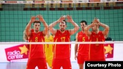 Мацедониа - Macedonian volleyball team.