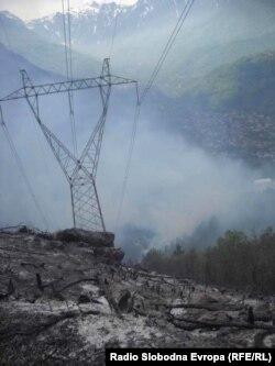 Požar kod Konjica, foto: Mirsada Ćosić