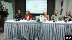 """Фотографија од конференцијата """"Акција против климатски промени СЕГА!"""""""