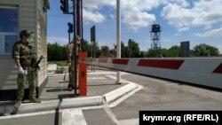 КПВВ «Каланчак» на административной границе между Крымом и Херсонской областью, архивное фото