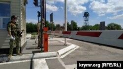 КПВВ«Каланчак» на админгранице между Крымом и Херсонщиной, архивное фото