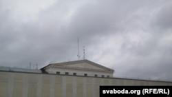 Будынак Валадаркі перад пачаткам акцыі (11:30)